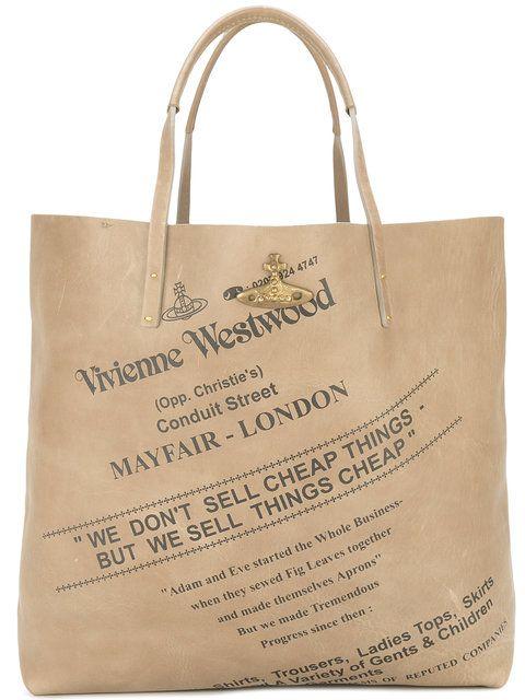 Vivienne Westwood logo print shopping bag