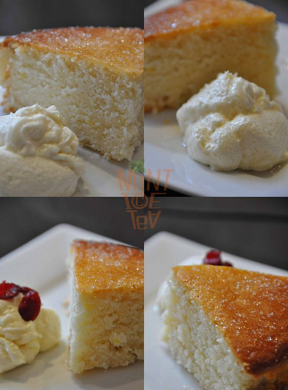 Eggless Lemon Sponge Cake