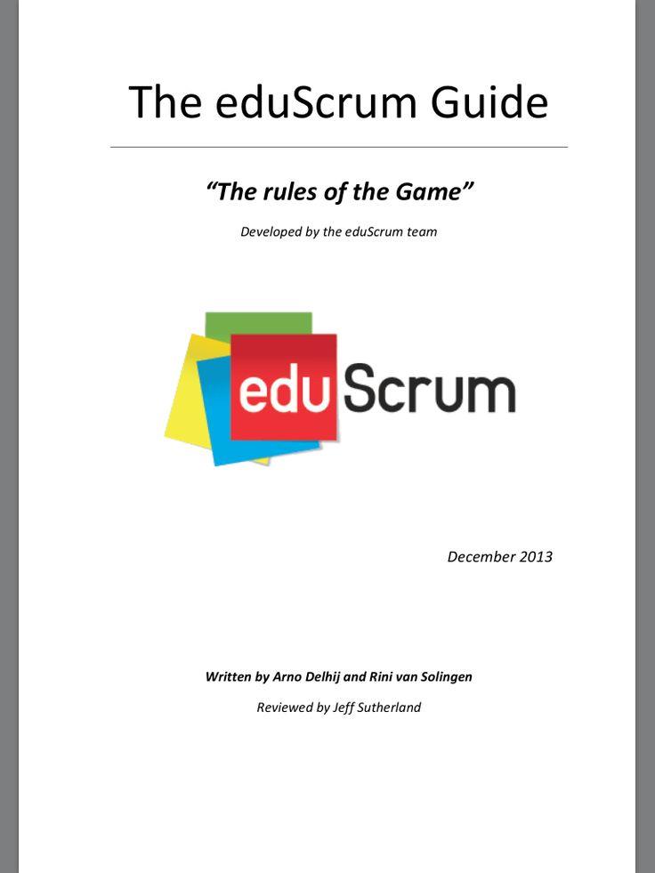 20131219 goede beschrijving van eduScrum. Mooie methode om leerlingen in groepen zelfontdekkend te laten leren. Model is helder.