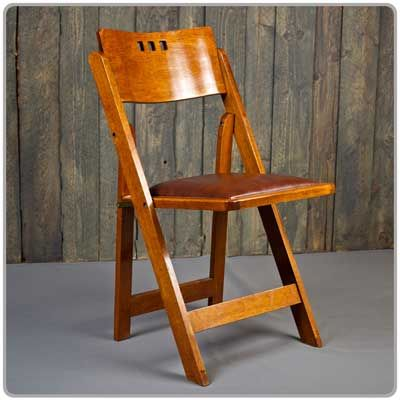 Wine Country PartyEvents 3 Hole Walnut Folding Chair is