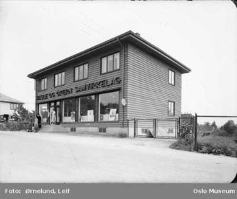 Oslo Samvirkelag avd.74 Hasle Økern Økernveien 135 1949 barn gutt jente butikk