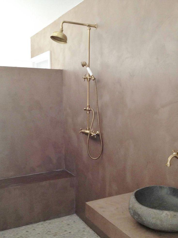 douche en b ton cir salle de bains en 2019 carrelage. Black Bedroom Furniture Sets. Home Design Ideas