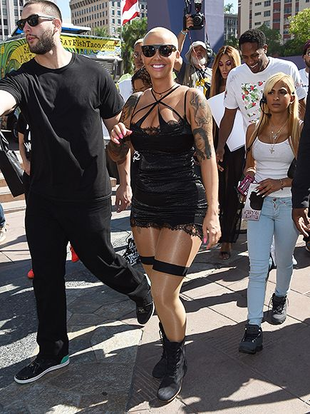 Amber Rose's LA Slutwalk to stop shaming and victim blaming.  Her mother also participated and carried a sign that apparently referenced Kanye West