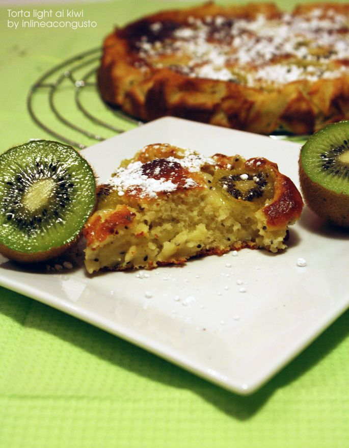 Torta light ai kiwi