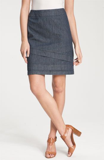 Nic + Zoe Chambray Skirt available at #Nordstrom