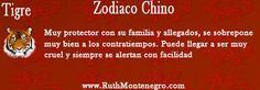 Signo del zodiaco Chino el Tigre