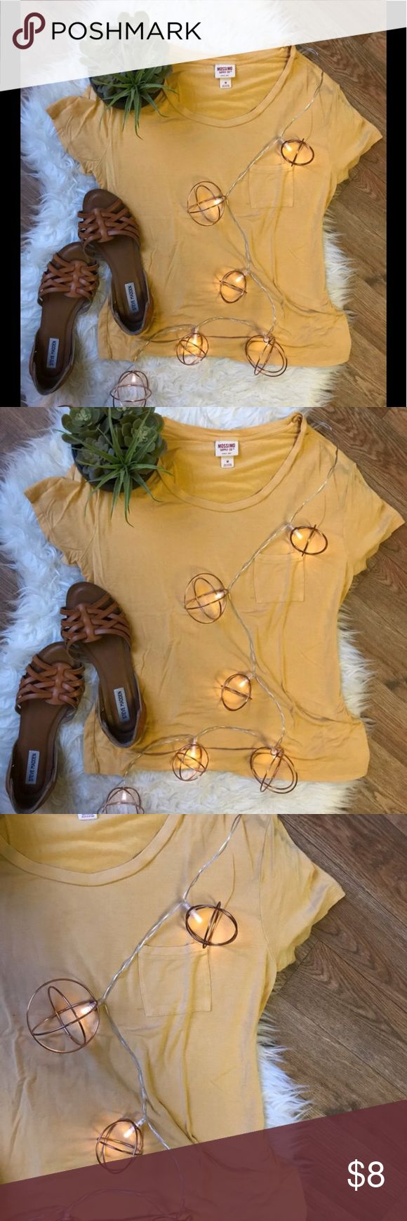 Yellow Slouchy Tee Short sleeve tee, super soft and comfy. Looks so cute with a long necklace and leggings.   #simple #closetbasic #closetstaple #chicyetcomfy #slouchytshirt #slouchtee Mossimo Supply Co. Tops Tees - Short Sleeve