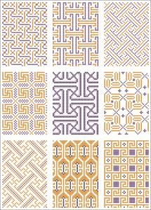 All-over pattern for cross stitch or knitting.