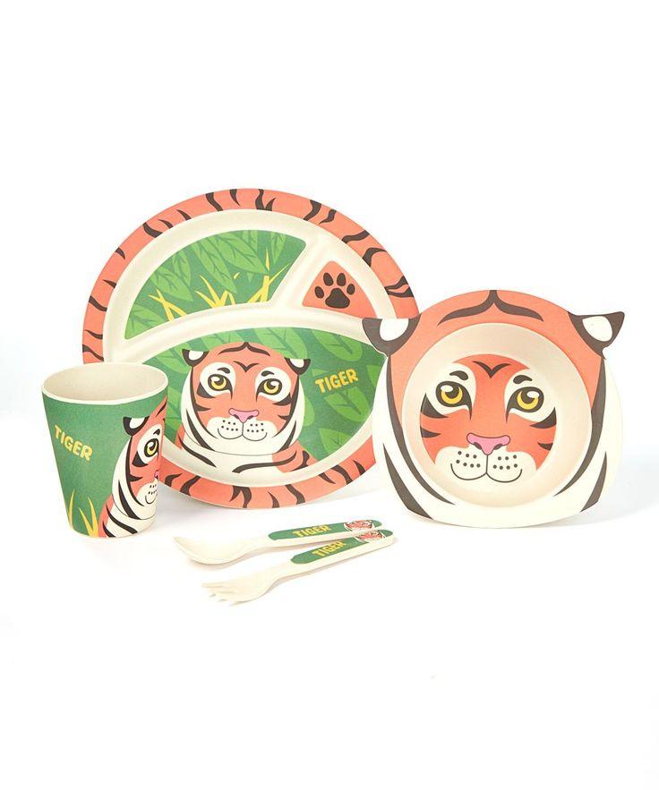 Tiger Five-Piece Dinnerware Set