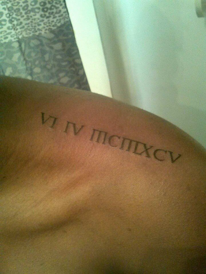 My birthday in Roman numerals