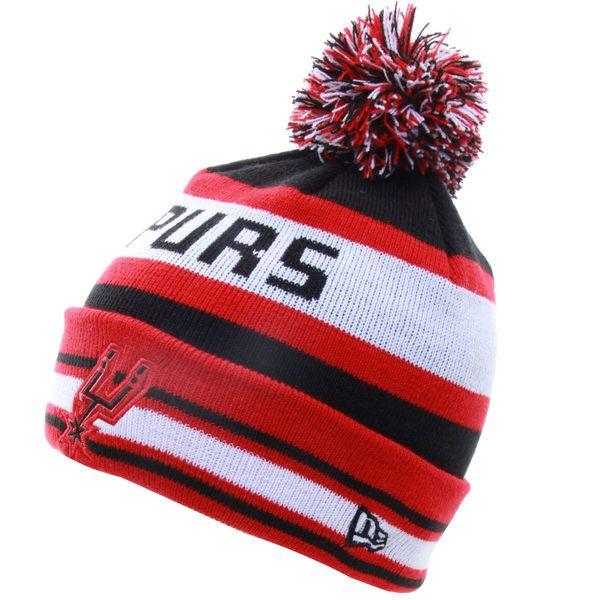 Mens San Antonio Spurs New Era Black/Red Fashion Jake Metallic Knit Hat, Your Price: $22.99
