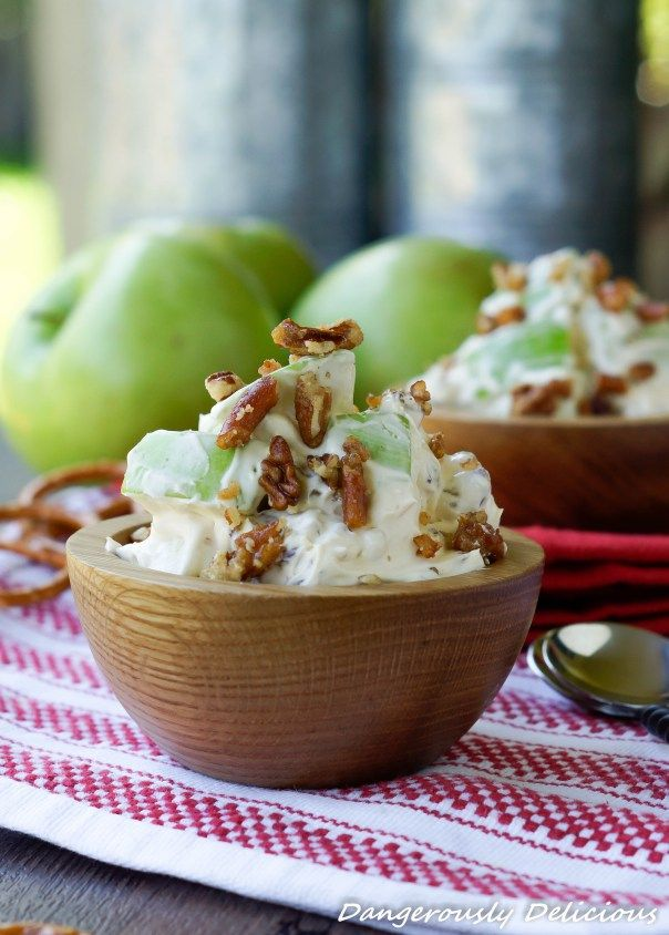 Caramel Apple Salad with Sugared Pretzels and Pecans