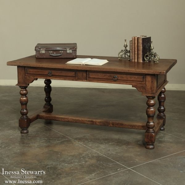 Antique Furniture| 19th Century Country French Desk | www.inessa.com