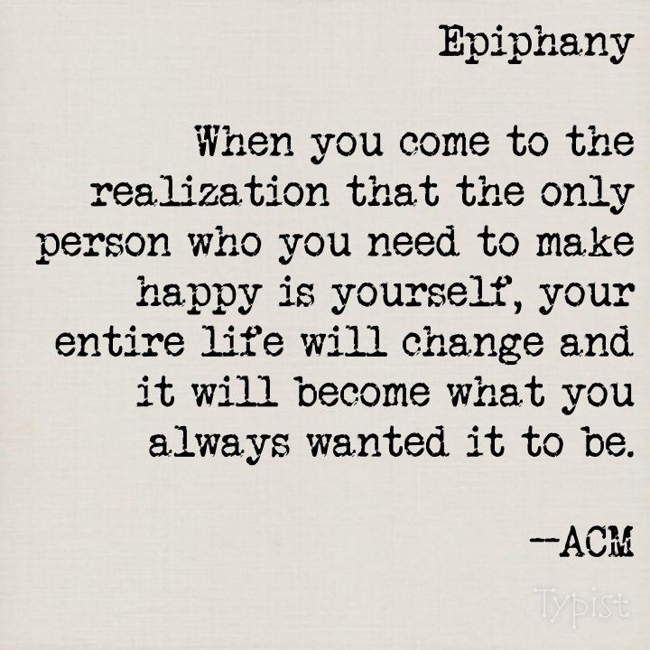 Poetry by ACM: Epiphany