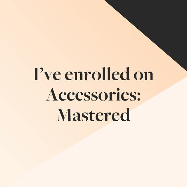 "I was selected to be a part of Mastered program.  ""This program is for 200 accessories designers who want to build a standout global brand. Mastered program will take you on a 10-month journey to build a standout accessories brand. You will learn from the best experts. You will refine your brand and hone your business; you will get valuable critique and exposure from PRs buyers and editors; and you will meet collaborators you will rise up with."" #excited #accesoriesmastered #masteredaccor…"