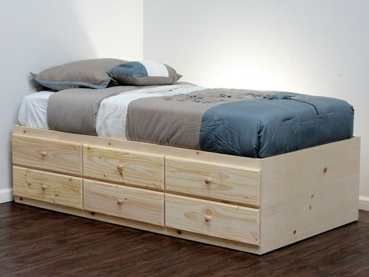Twin Xl Captains Bed For The Home Bed Frame With