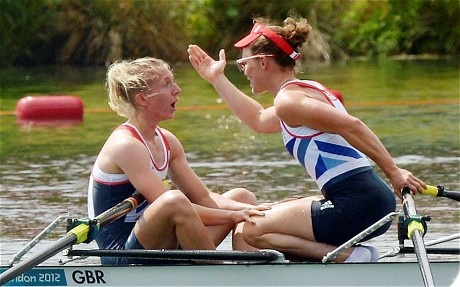Katherine Copeland and Sophie Hosking storm to gold to claim GB's first ever women's lightweight doubles title. It could be one of the images of the Olympics: Katherine Copeland's startled face after her boat had romped to a crushing victory.