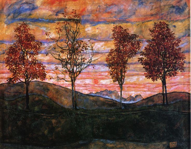 Egon Schiele: Four Trees - Google Search