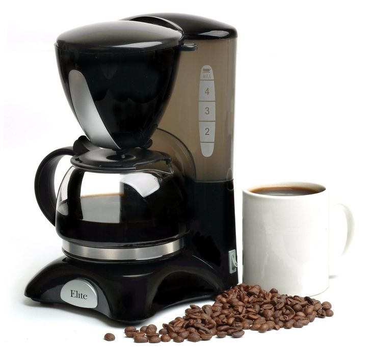Elite Cuisine 4 Cup Coffee Maker #EHC-2022