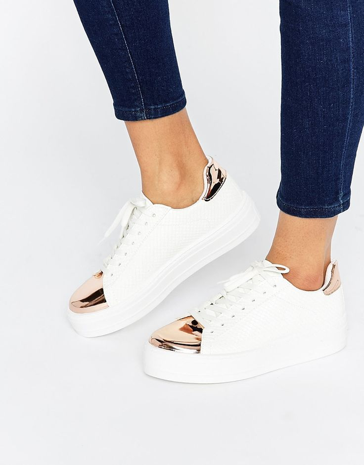 Image 1 of ASOS DEFINITELY Lace Up Sneakers