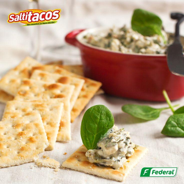 Con Saltitacos puedes hacer combinaciones deliciosas, inclusive de recetas y platos sofisticados. ¿Qué esperas para hacer el tuyo? #galletasfederal