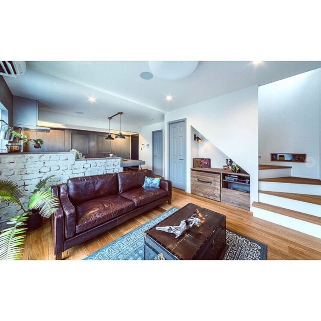 ___landonlyさんの、部屋全体,グレーの壁,新築,注文住宅,マイホーム,造作,メラミンカウンター,パントリー,無垢の床,ジャーナルスタンダードファニチャー,グレー,journal standard Furniture,輸入クロス,のお部屋写真