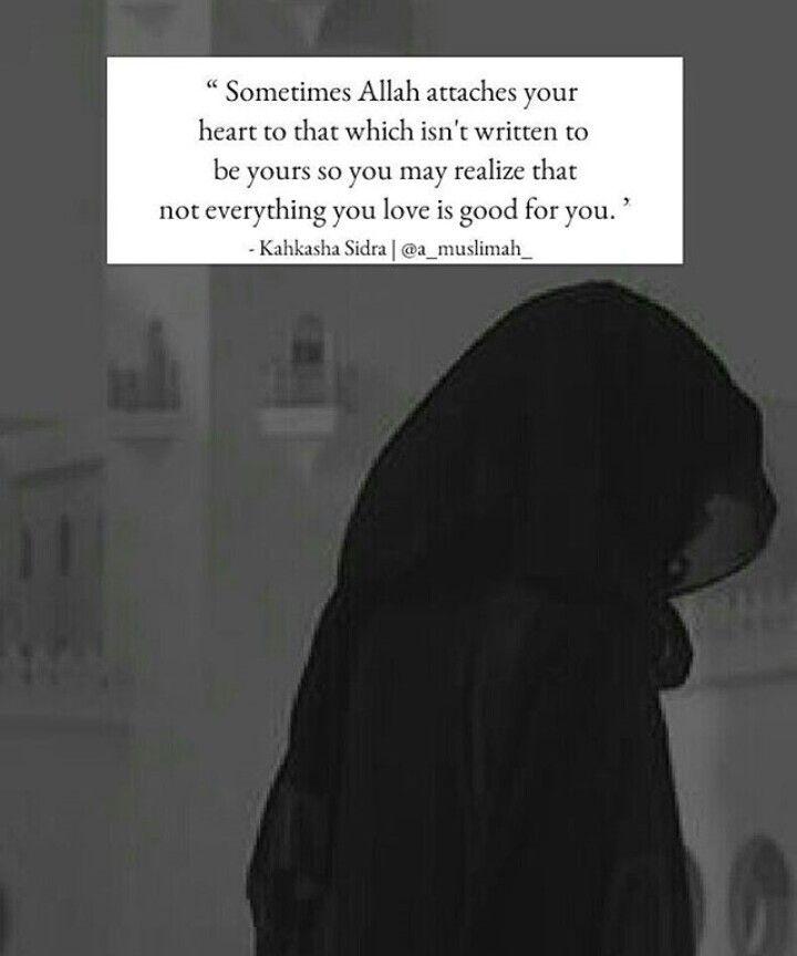 Start to realize that. Thank you ya Allah :')