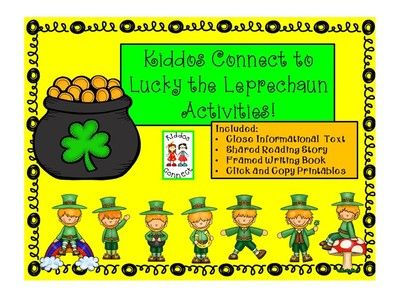 St. Patricks Day - Kiddos Connect to Lucky the Leprechaun Activities from KiddosConnect on TeachersNotebook.com -  (86 pages)  - Lucky the Leprechaun often plays tricks and jokes on people! These fun-loving activities get your kiddos to connect to learning!