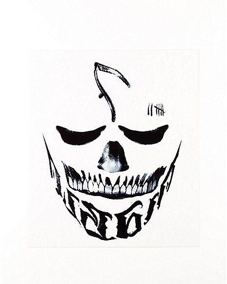 Diablo Face Tattoo - Suicide Squad - Spirithalloween.com