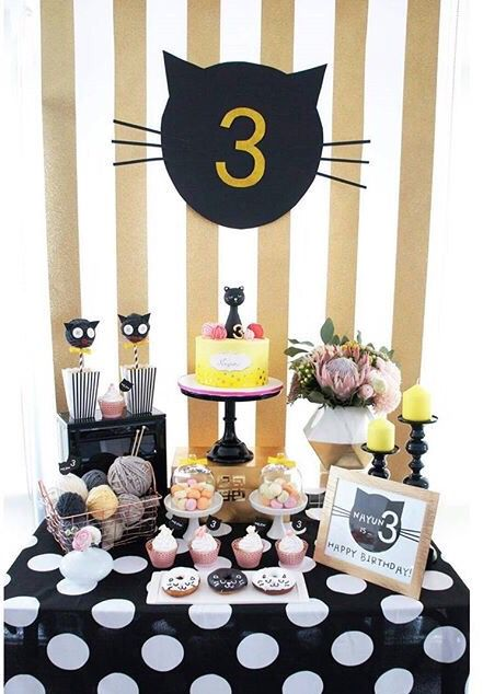 Kitten themed birthday party! #bloom_cake_co #partywithchloe