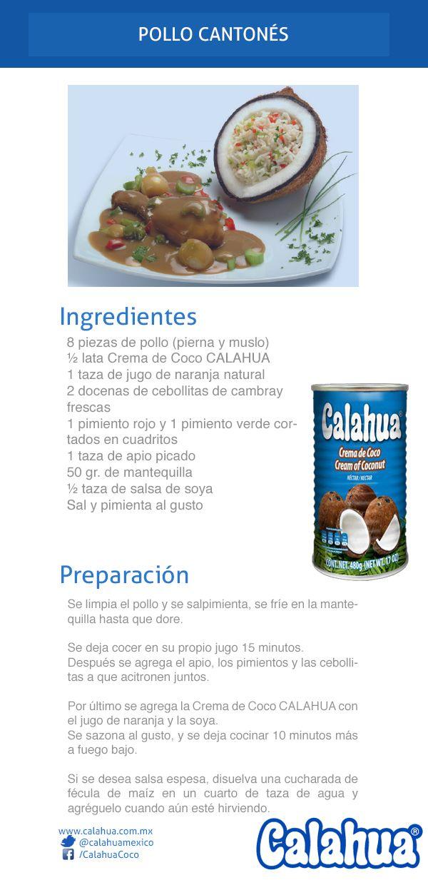 Pollo Cantonés con el toque de la Crema de Coco #Calahua. ¡Prepáralo con esta receta!