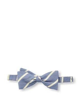 53% OFF Gitman Blue Men's Striped Bow Tie, Blue/White