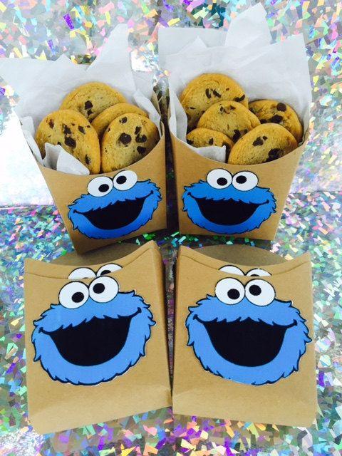 Sesame Street Cookie Monster Party Cookie by FunkieTreasures