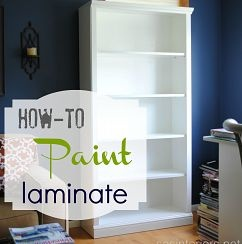 A full tutorial on how-to paint laminate furniture: Howto Paintings, Woods Furniture, Diy'S Furniture, Paintings Laminate Furniture, Design Projects, Diy'S Crafts, Shelves, Diy'S Projects, How To Paintings