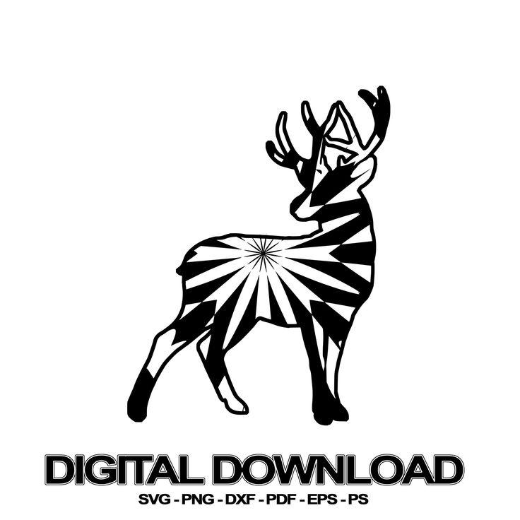Deer Mandala SVG November Collection Digital Download File