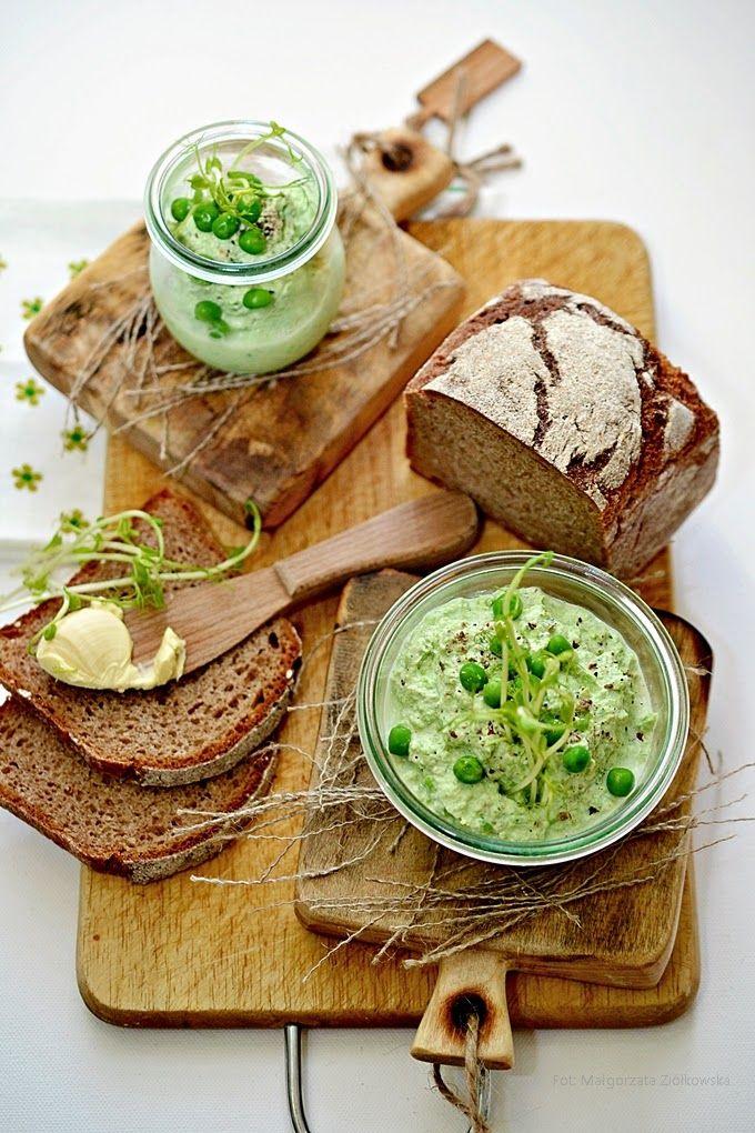 Smaki Alzacji : Groszkowo bazyliowa pasta z ricotty