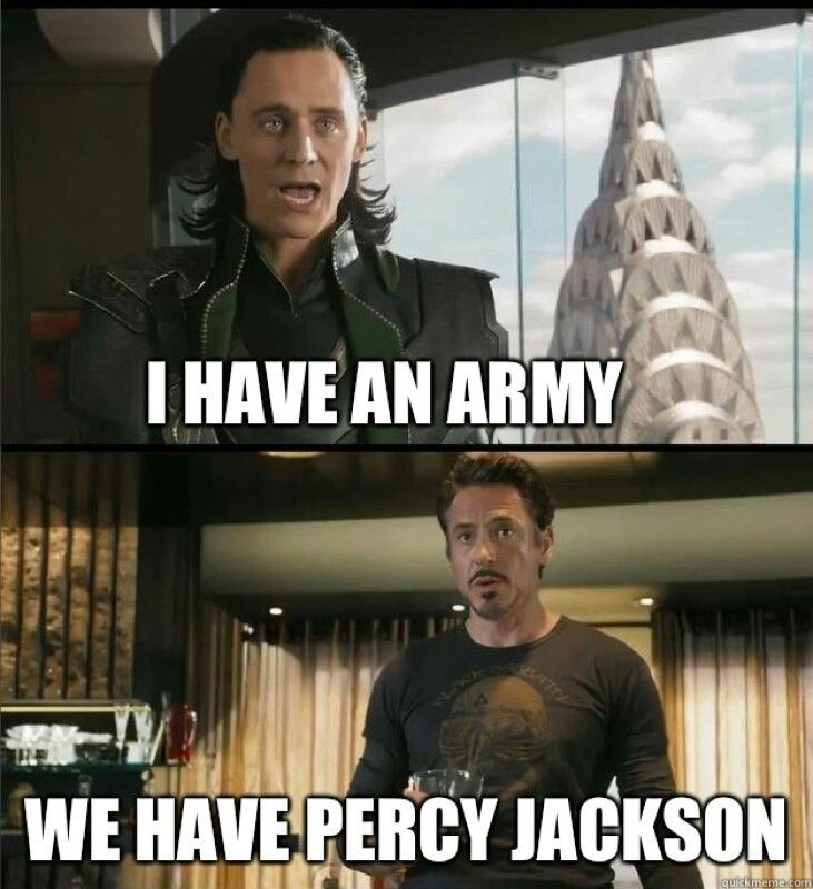 Actually, this will be the only time ever that I bag on the Percy Jackson fandom, but they have NO chance against Tom Hiddleston... I still love Percy Jackson.