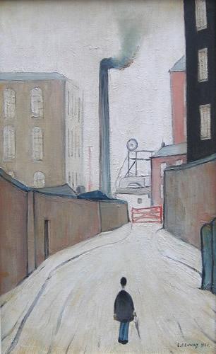 L.S. Lowry- Man Walking
