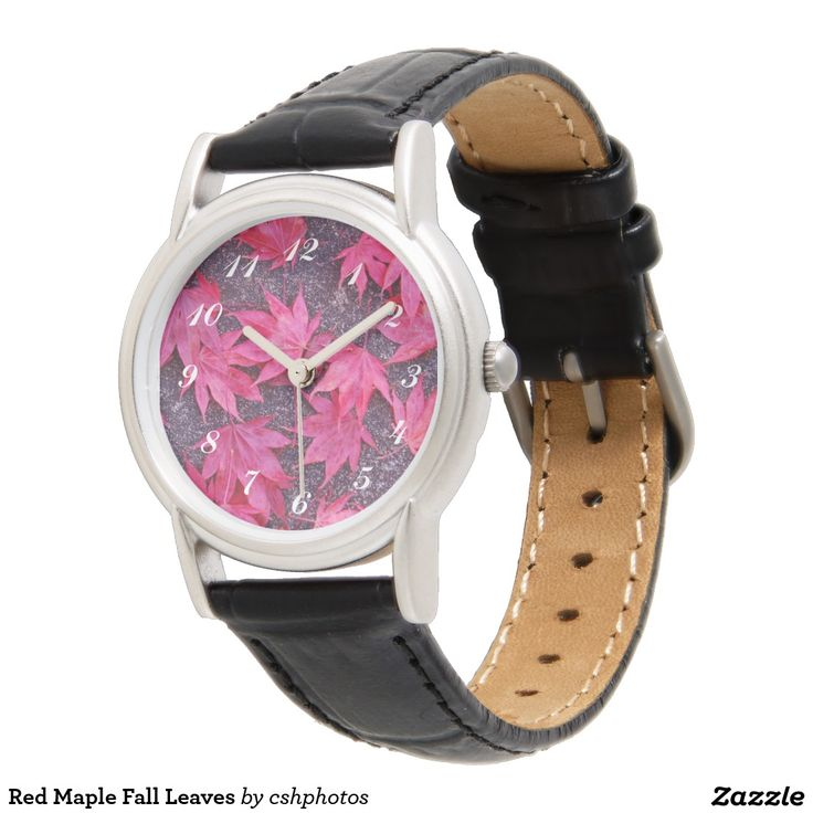 Red Maple Fall Leaves Watches