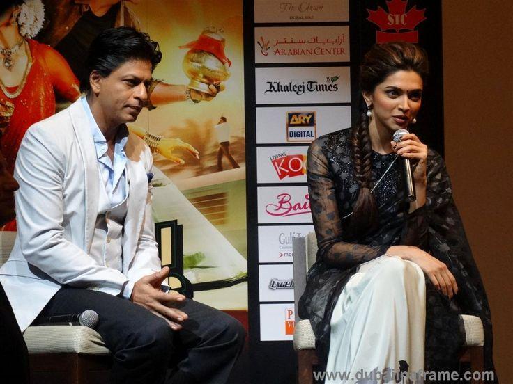 Indian Film Superstar Shah Rukh Khan aka SRK and Deepika Padukone in Dubai for the promotional tour of Chennai Express