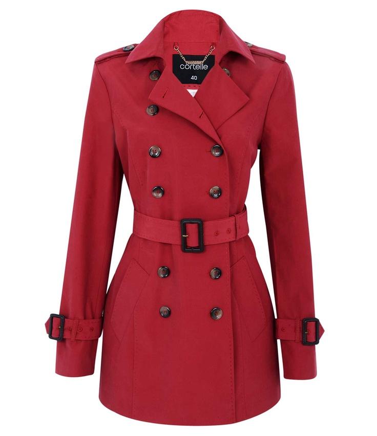 Casaco Feminino Trench Coat com Cinto e Fivela