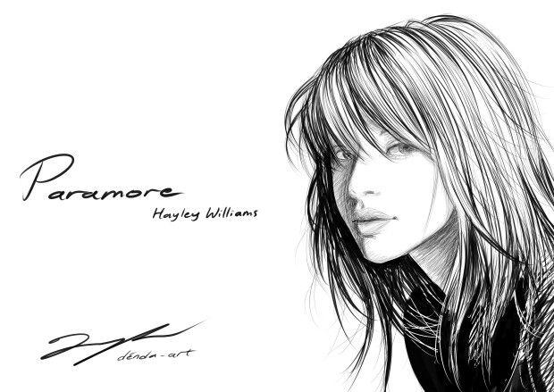 Hayley Williams PARAMORE #hayley #hayleywilliams #sketch