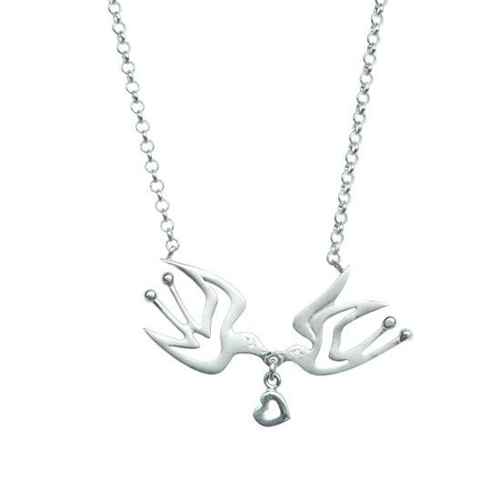 Love Birds, sterling silver necklace | my-precious.com