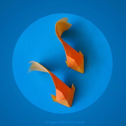 Ethereal Origami Goldfish | AllFreePaperCrafts.com
