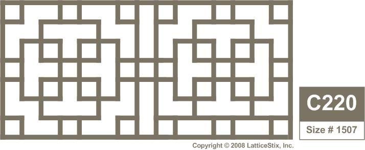 LatticeStix : Decorative Lattice Panel in C220 - 4 ft x 1 ft 10in ...