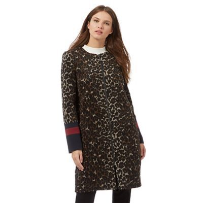 Preen/EDITION Brown animal print coat | Debenhams £80