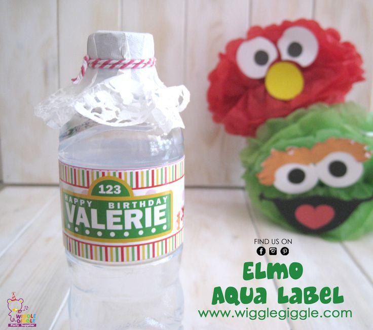 Elmo Aqua Labels. Visit us at www.wigglegiggle.com