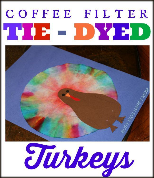 Coffee Filter Tie-Dye Turkeys.