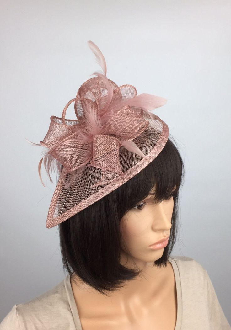 Excited to share the latest addition to my #etsy shop: Blush Pink Fascinator wedding mother of the bride hatinator Ladies Day & Ascot races, occasion event prom #weddings #accessories #rosegold #ladiesday #duskypink #prettyelegant1 #pastelpink #weddingfascinator #churchhat