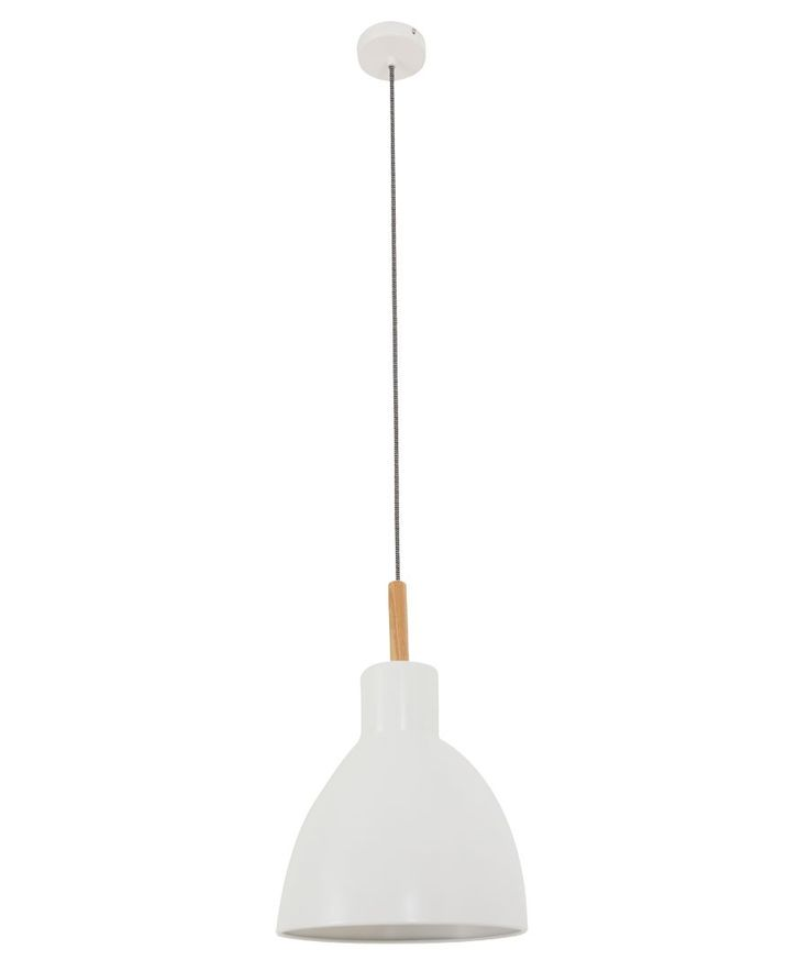 Beacon Lighting - Meyer 1 light 220mm pendant in ashwood with white shade $71